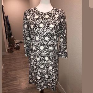 See By Chloe Black & White Lace Dress W/ Pockets